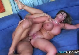 Busty pornstar slammed by enormous cock 28 min