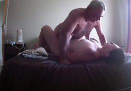 fucking my wife on vacation -hidden cam