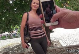 GERMAN SCOUT – MEGA SEXY TEENY SHALINA BEI CASTING GEFICKT 12 min