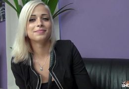 Ria Sunn gets her pussy banged in model casting with Wendy Moon