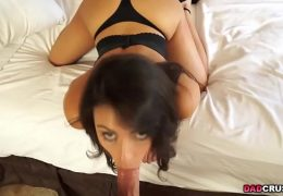 Sexy Latina Taylor May swallows daddys dick